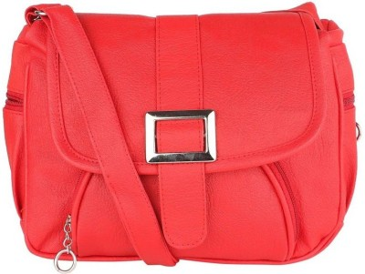 ELLI FASHION Women Red PU Sling Bag  available at flipkart for Rs.264