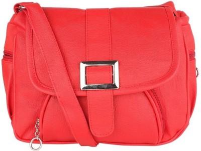 ELLI FASHION Women Red PU Sling Bag at flipkart