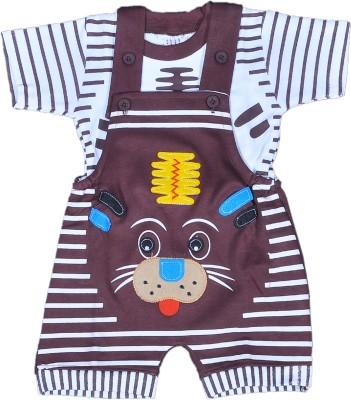 RISHAN Baby Boy's Brown Bodysuit