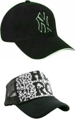 ff4fbe3dbb1be Friendskart Half Net Front Side Printed Hero And Ny Baseball Cap For Boys  And Girls Cap