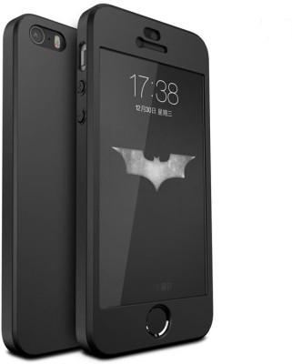GoldKart Front & Back Case for Apple iPhone 5s(Black, Plastic)