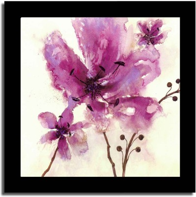 Painting Mantra 'Flowery' Framed Poster Canvas Art(12 inch X 12 inch, framed)  available at flipkart for Rs.370