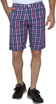 Magneto Checkered Men's Multicolor Chino Shorts  available at flipkart for Rs.299