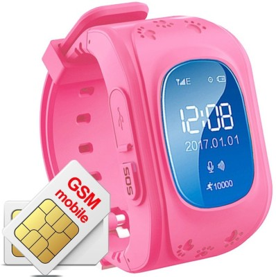Wonder World ® Children Kids Anti-lost GPS Finder Tracker SOS Call Location SIM Card Slot Remote Monitor for phones(Pink) at flipkart