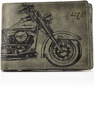 Men Green Artificial Leather Wallet