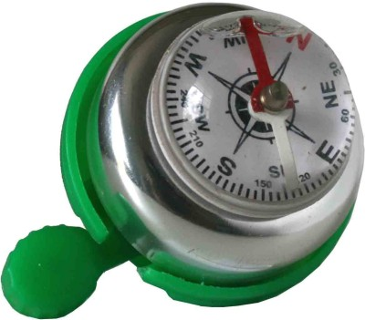 Adraxx Bicycle Safety Bike Ring Alarm Compass Bell Bell Green, Silver
