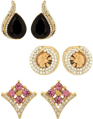 NIA for Voylla Artificial Classic Embellished Crystal Alloy Earring Set at flipkart