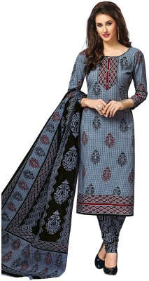Jevi Prints Pure Cotton Printed Salwar Suit Material(Unstitched)