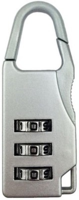 PH Artistic 3 Digit Re-settable Code Number Combination Suitcase Bag lock Padlock(Blue, Pink)