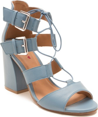Red Tape Women Blue Heels at flipkart