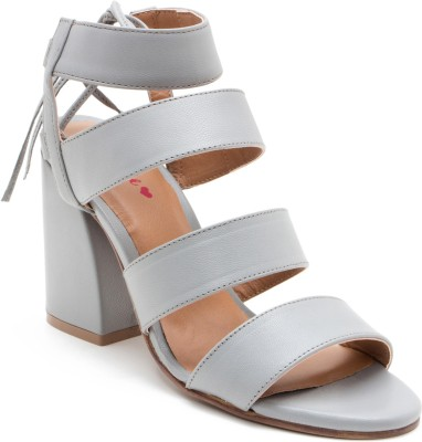 Red Tape Women Grey Heels at flipkart