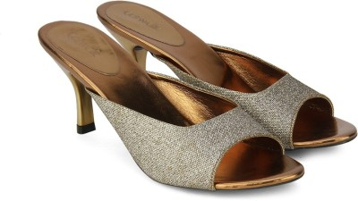Catwalk Women BRONZE Heels at flipkart