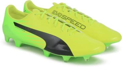 Puma evoSPEED 17.SL S FG Football Shoes For Men(Yellow) at flipkart