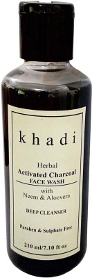 Khadi Herbal Activated Charcoal Paraben and Sulphate Free Face Wash 210g