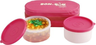 Dealsnbuy Milton Bon Lunch Box Pink 2 Containers Lunch Box 400 ml