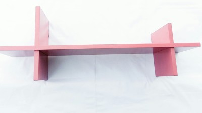 The New Look Wooden Wall Shelf(Number of Shelves - 1, Pink)