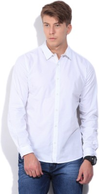 United Colors of Benetton Men's Solid Casual White Shirt at flipkart