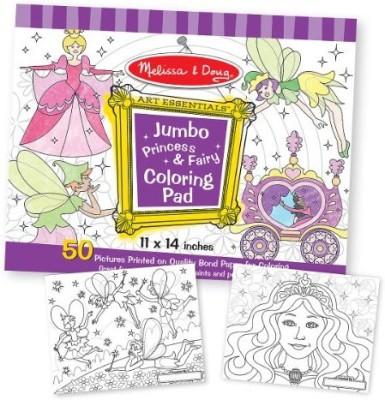 MELISSA   DOUG Princess   Fairy Jumbo Coloring Pad MELISSA   DOUG Art   Craft Toys