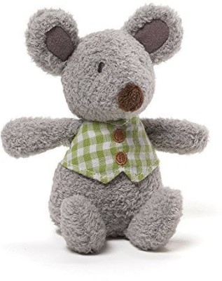 Gund Baby Mini Meadow Rattle Mossly Mouse Rattle(Multicolor)