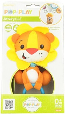 Infantino Pop & Play Rattling Jittery Pal Rattle(Multicolor)