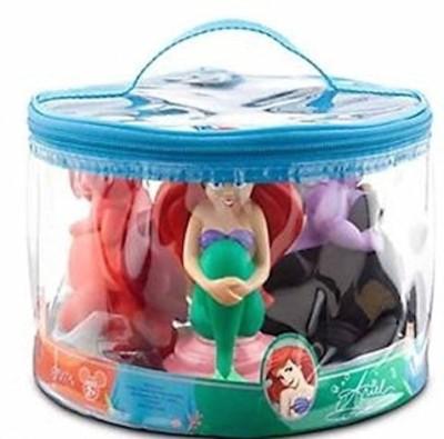 Disney Theme Parks Merchandise Exclusive Ariel Little Mermaid Squeeze Toys Set Of 4 Bath Toy(Multicolor)