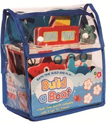 Meadow Kids Build A Boat Bath Toy(Multicolor)