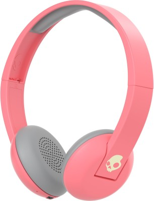 Skullcandy s5urjw-557 Bluetooth Headset with Mic(Coral Gray Cream, On the Ear) 1