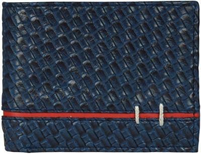 CREATURE Men Blue Artificial Leather Wallet(6 Card Slots), Navy blue
