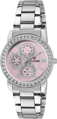 Dezine DZ-LR095-PNK-CH  Analog Watch For Unisex
