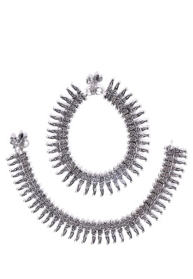 Frabjous Designer Oxidized German Silver Alloy Anklet at flipkart