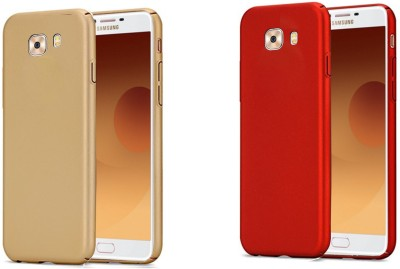 Spicesun Back Cover for Samsung Galaxy C9 Pro(Red, Gold)