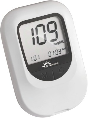 Dr. Morepen GlucoOne BG05 with 25 Strips Glucometer(White)