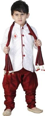 FTC Bazar Boys Kurta, Pyjama & Dupatta Set(White Pack of 1)