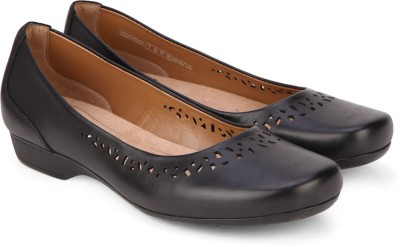 Clarks Blanche Garryn Black Leather Bellies(Black) at flipkart