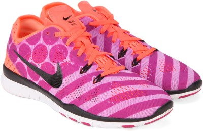 6ada2a8041114 Nike WMNS FREE 5 0 TR FIT 5 PRT Training Shoes Pink Best Price in India