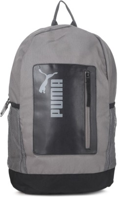 Puma PUMA Classic Medium Backpack 24 L Laptop Backpack(Black, Grey)