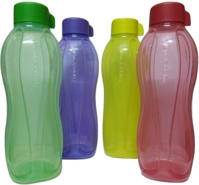 Tupperware AQUASAFE WATER BOTTLES 1000 ML (Pack of 4, Multicolor) 1000 ml Bottle(Pack of 4, Multicolor)