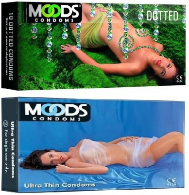 Moods Dotted & Ultrathin Combo 2 (Concealed/Confidential Packaging) Condom(Set of 2, 20S)  available at flipkart for Rs.155