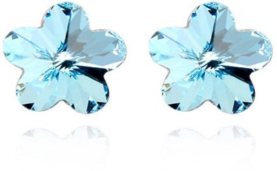 Yellow Chimes Crystals Alloy Stud Earring at flipkart