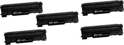PrintStar 925 Black Toner Cartridge Pack of 5 Compatible for Canon Laser Shot LBP6018B, Canon imageCLASS MF3010 Black Ink Toner PrintStar Toners