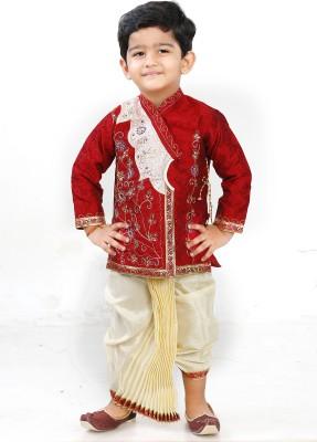 FTC Bazar Boys Dhoti & Kurta Set(Red Pack of 1)