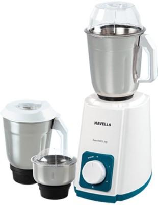 Havells Super Mix 500W 3 JAR 500 W Mixer Grinder(Turquoise, 3 Jars)