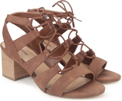 Call It Spring Women Cognac Heels at flipkart
