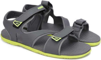 Puma Men Dark Shadow-Safety Yellow Sports Sandals at flipkart