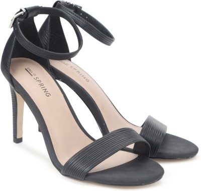Call It Spring Women Black Synthetic Heels at flipkart