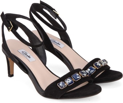 Clarks Women Black Sde Heels at flipkart