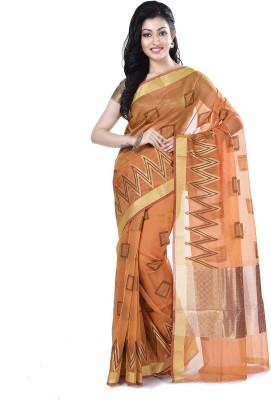 19c6b1807ff View Bunkar Floral Print Fashion Silk Cotton Blend Saree(Gold) Price Online