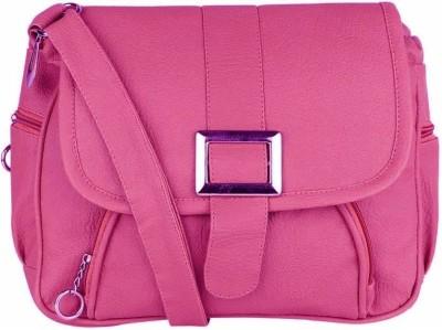 ELLI FASHION Women Pink PU Sling Bag  available at flipkart for Rs.277