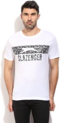 Slazenger Printed Men's Round Neck White T-Shirt