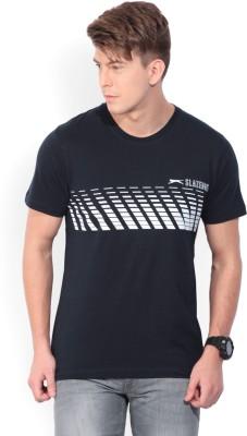 Slazenger Printed Men's Round Neck Dark Blue T-Shirt